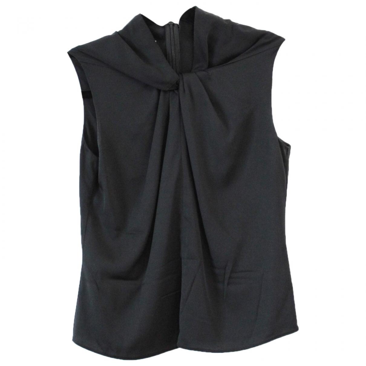 Armani Collezioni - Top   pour femme en soie - noir