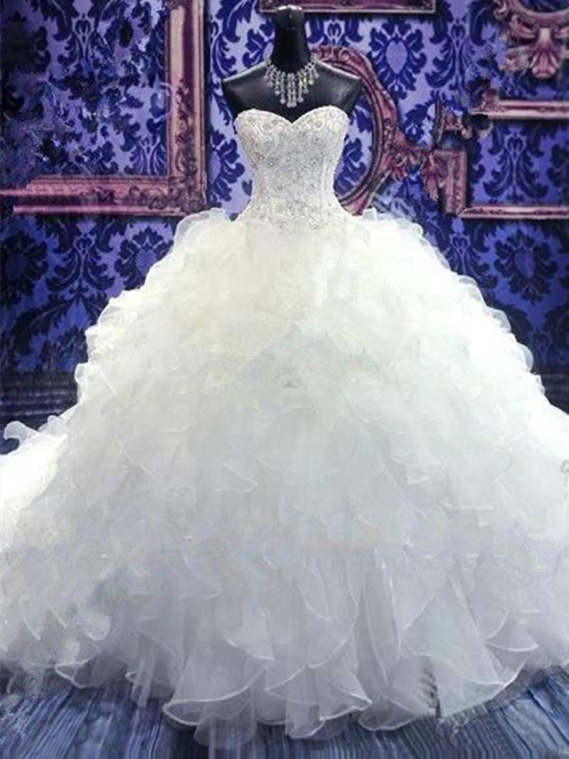 Ericdress Luxury Sweetheart Beadings Ball Gown Wedding Dress