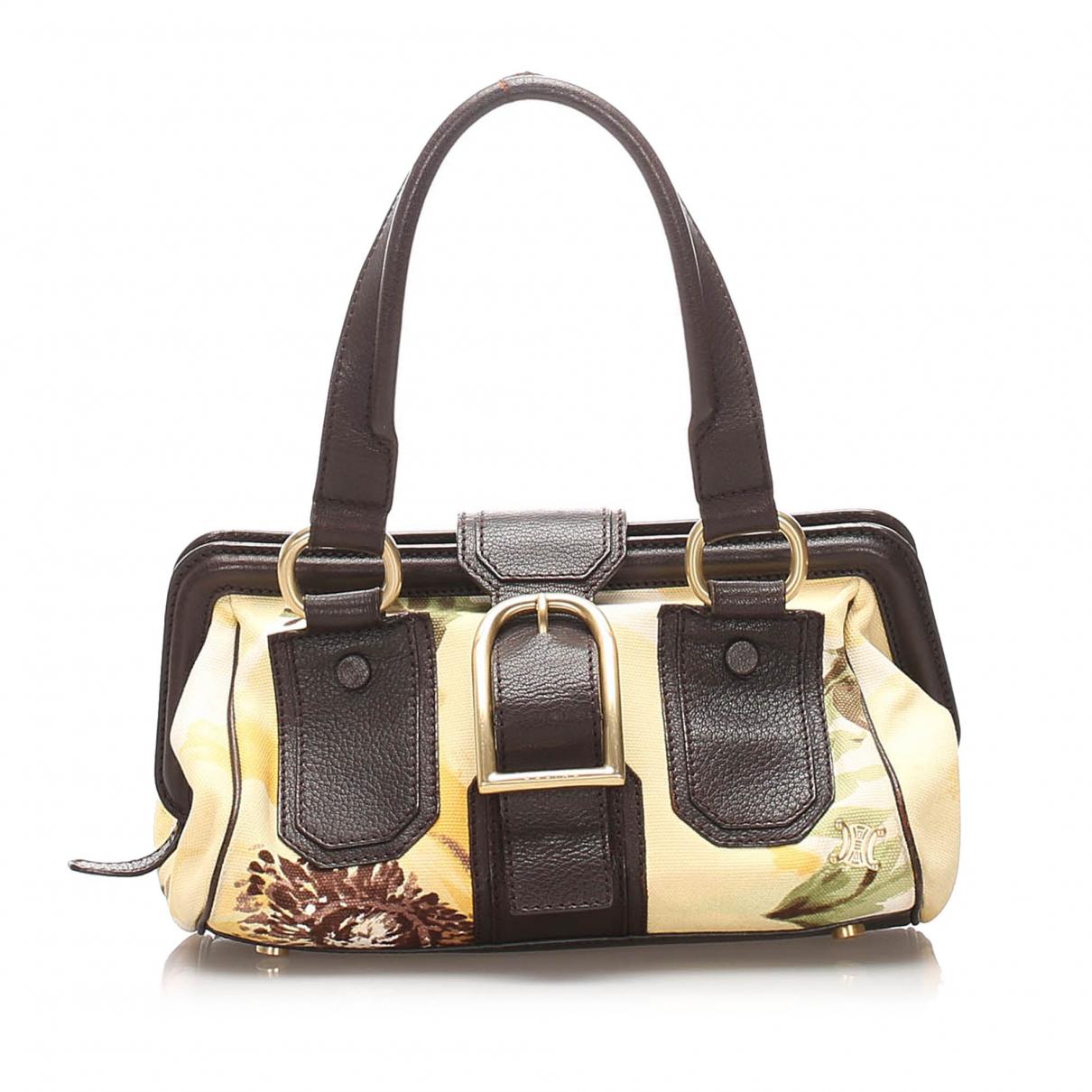 Celine N Brown Cloth handbag for Women N