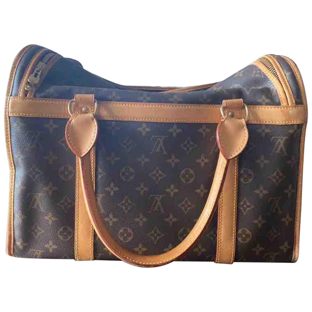 Louis Vuitton \N Accessoires in  Braun Baumwolle