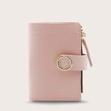 Brieftasche mit Stich, Reissverschluss Detail und Falten