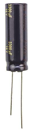 Panasonic 3300μF Electrolytic Capacitor 16V dc, Through Hole - EEUFC1C332 (5)