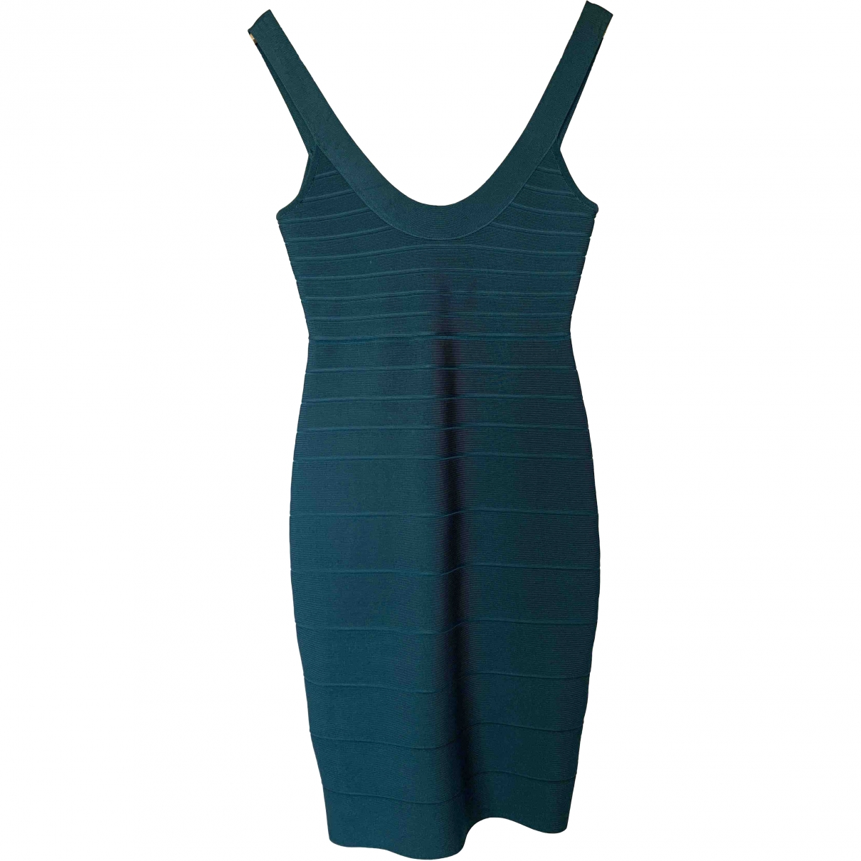 Herve Leger \N Turquoise Cotton dress for Women S International