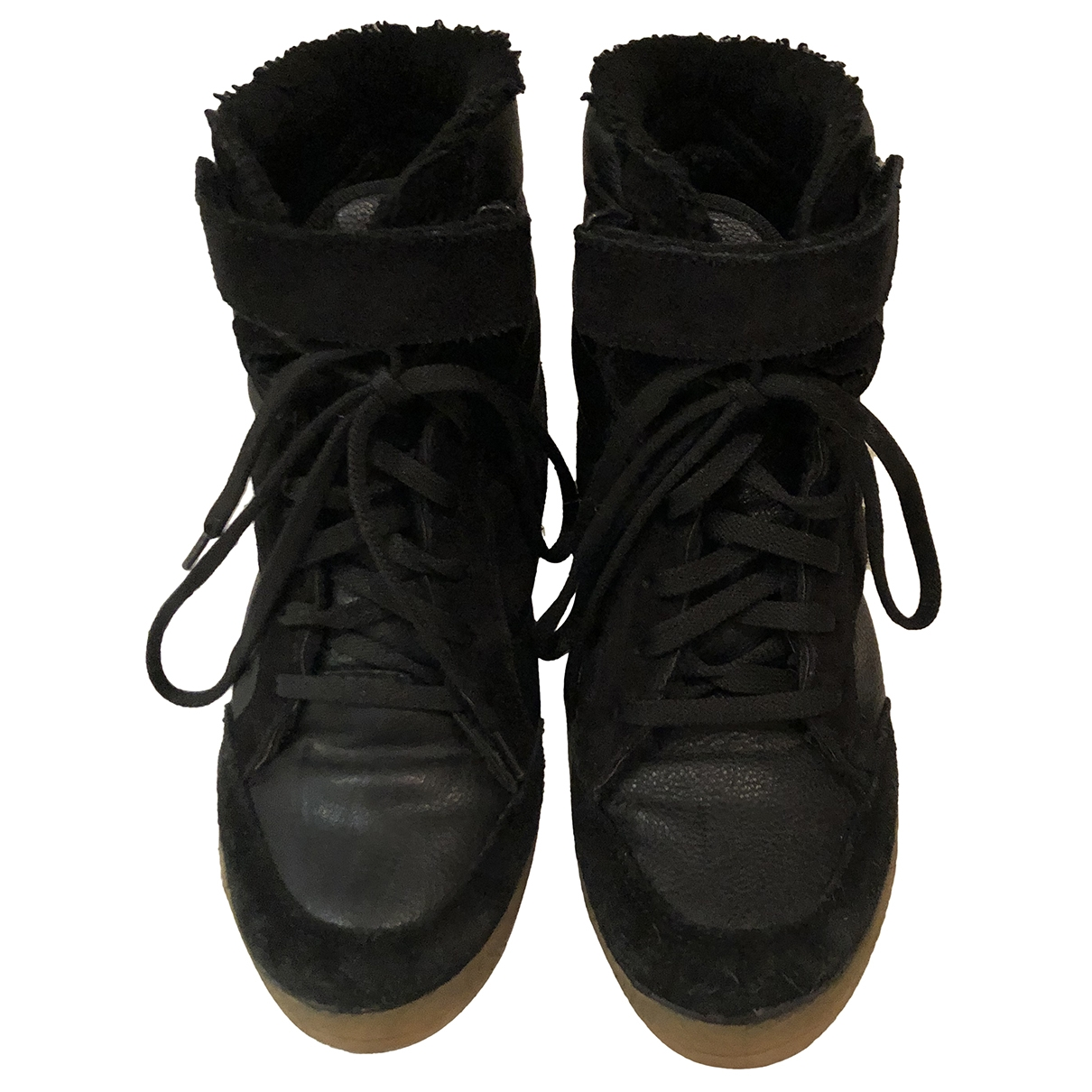 tophop \N Black Rubber Trainers for Women 38 EU