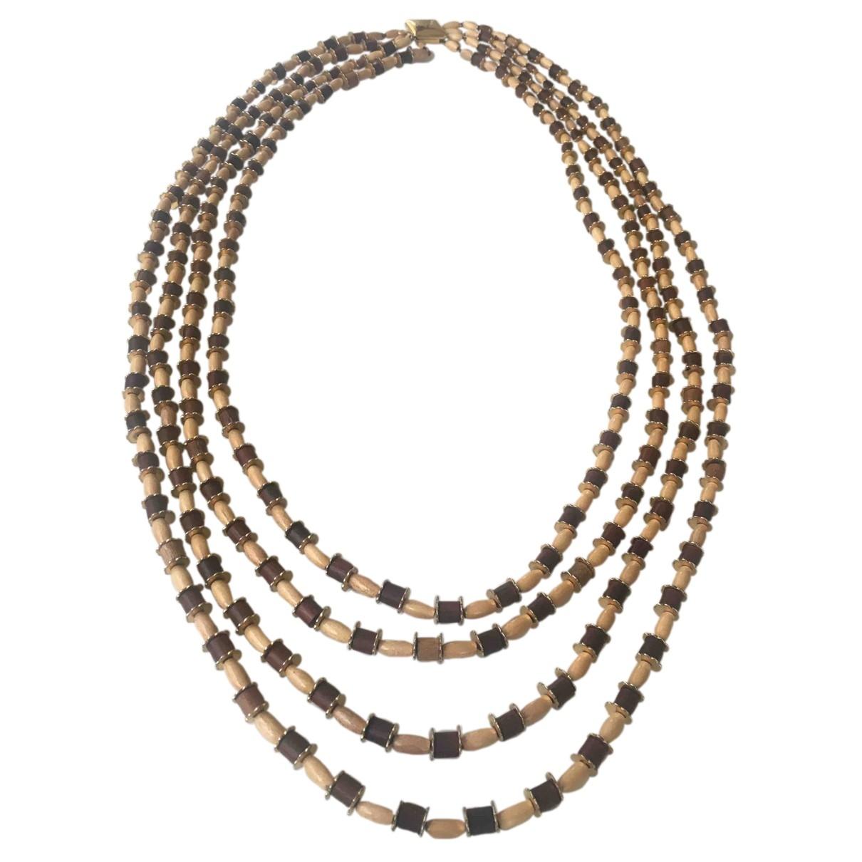 Loewe \N Halskette in Holz