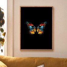 Butterfly Print Wall Painting Without Frame