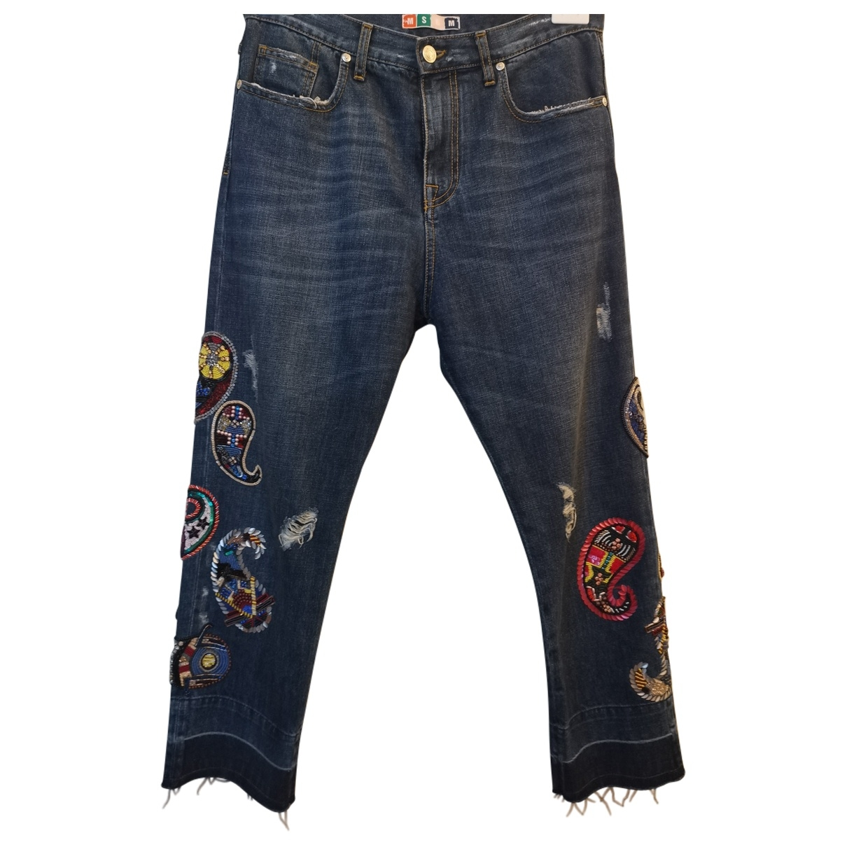 Msgm \N Blue Cotton Jeans for Women 40 IT