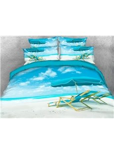 Vivilinen 3D Sunshine Sands Sea Beach Style 5-Piece Comforter Sets
