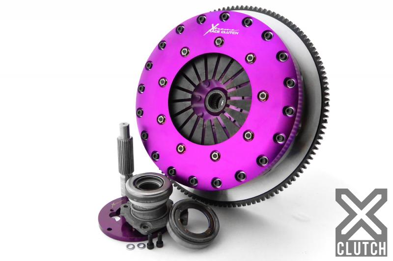 XClutch XKNI23688-2E Clutch Kit with Chromoly Flywheel + HRB 9-Inch and Twin Solid Ceramic Clutch Discs