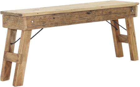 Java Collection 682820 Rustic Folding Bench in Rustic Natural