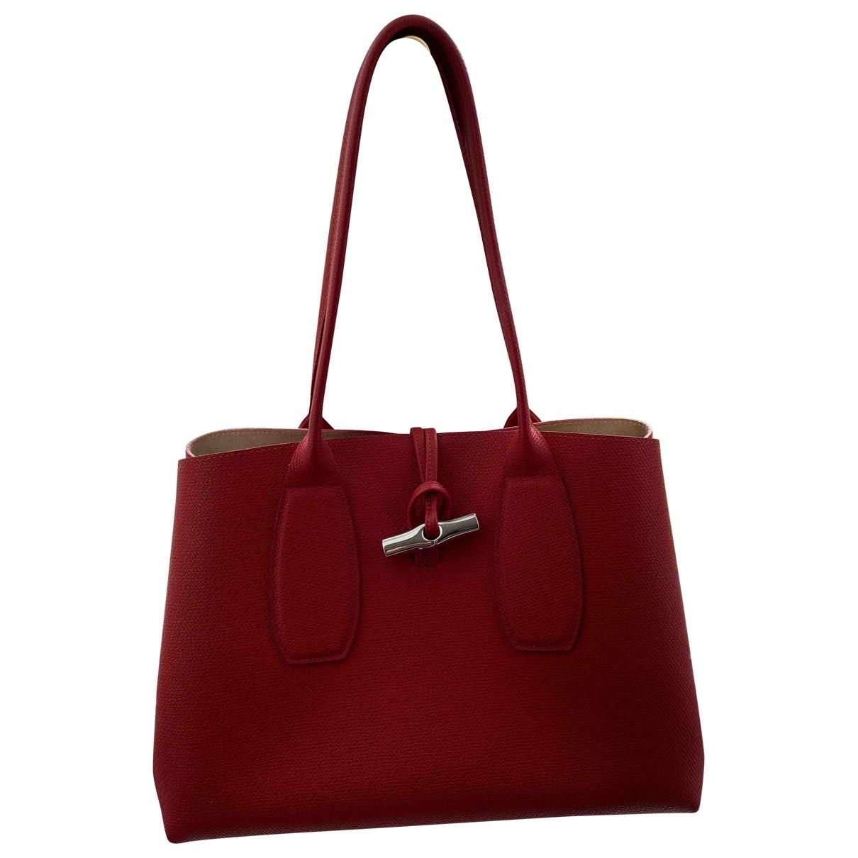Longchamp Roseau Red Leather handbag for Women \N