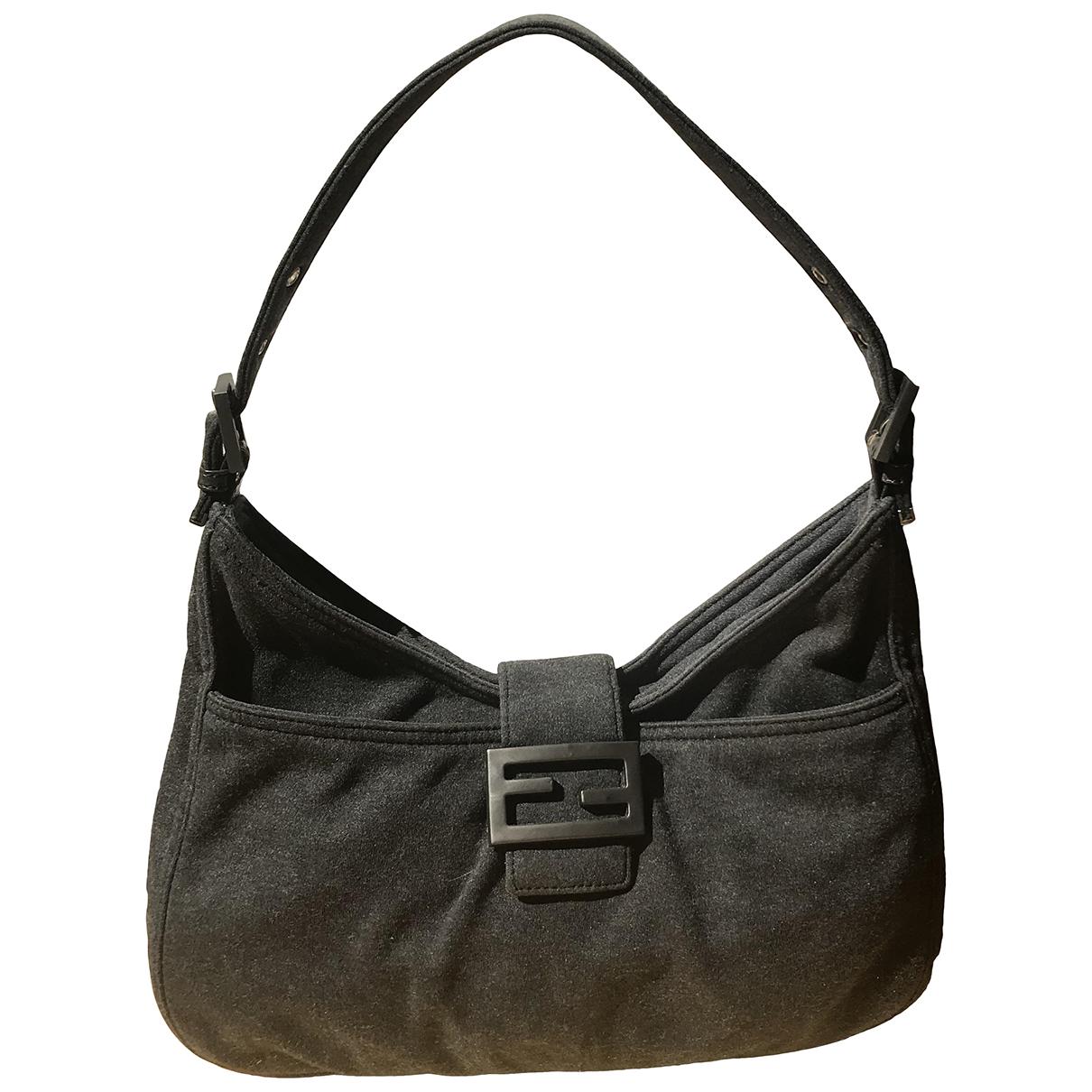 Fendi \N Handtasche in  Anthrazit Baumwolle