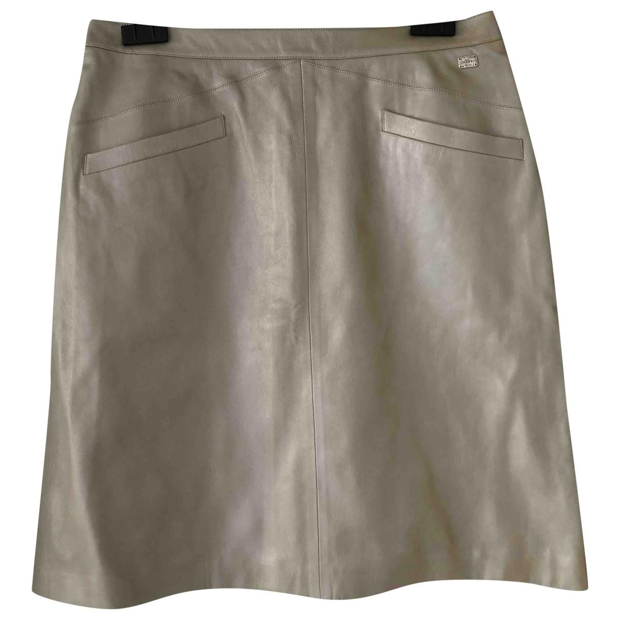 Chanel \N Metallic Leather skirt for Women 44 FR