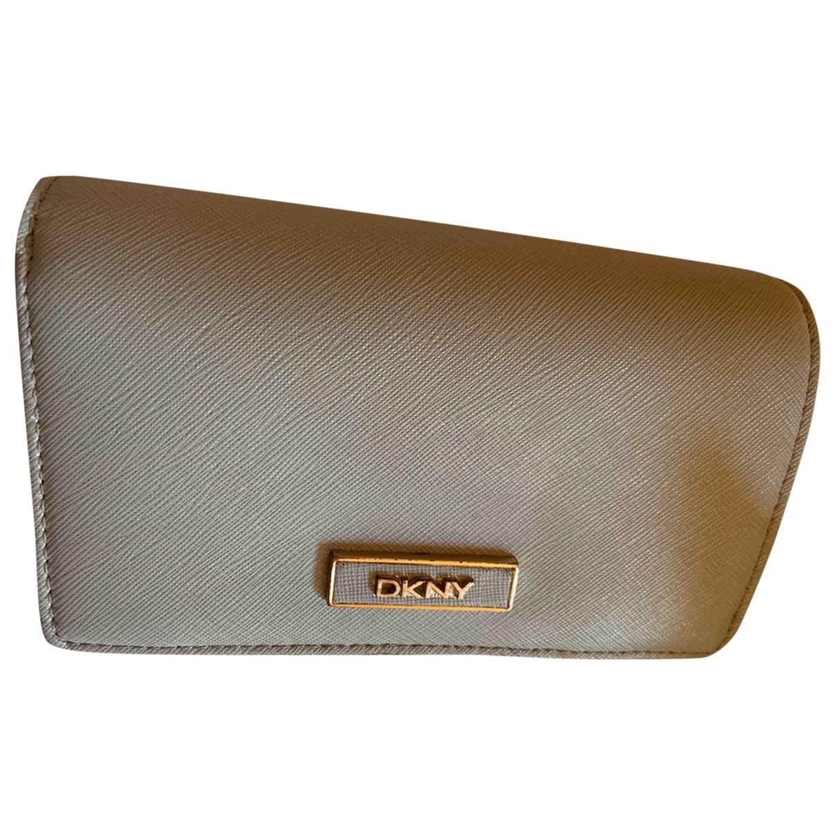 Dkny - Portefeuille   pour femme en cuir - gris