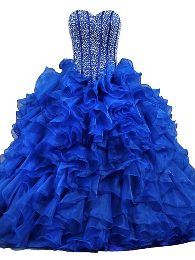 Ericdress Sweetheart Beading Sequins Ruffles Quinceanera Dress