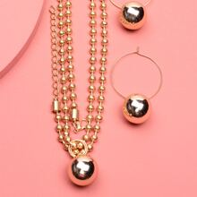 Ball Charm Necklace & Earrings