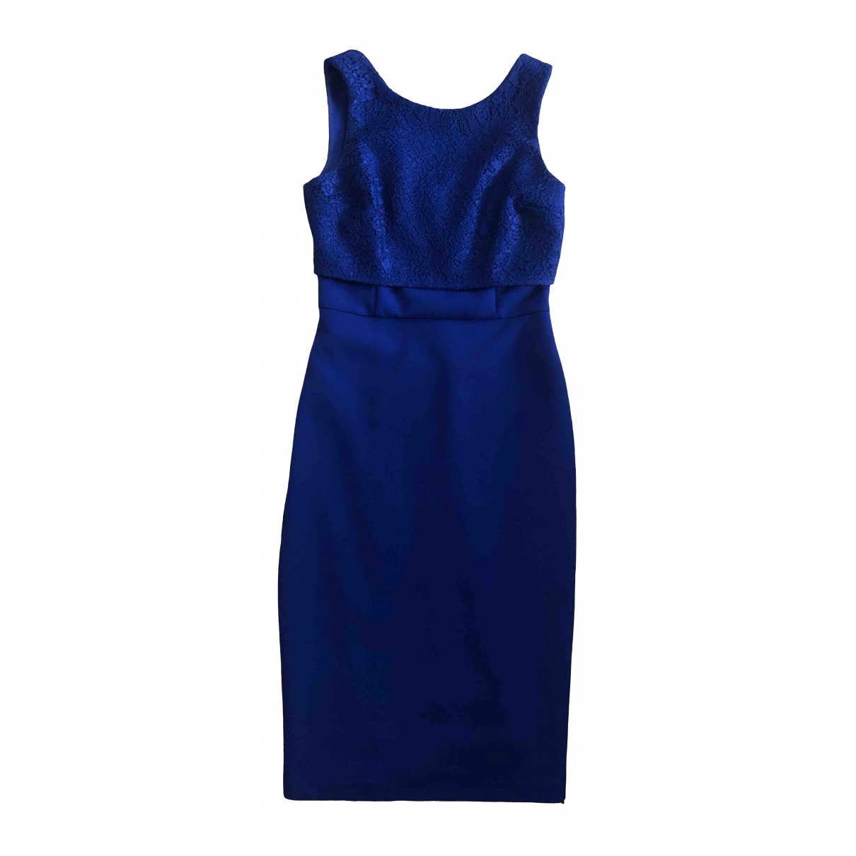 Coast \N Blue Cotton - elasthane dress for Women 36 FR