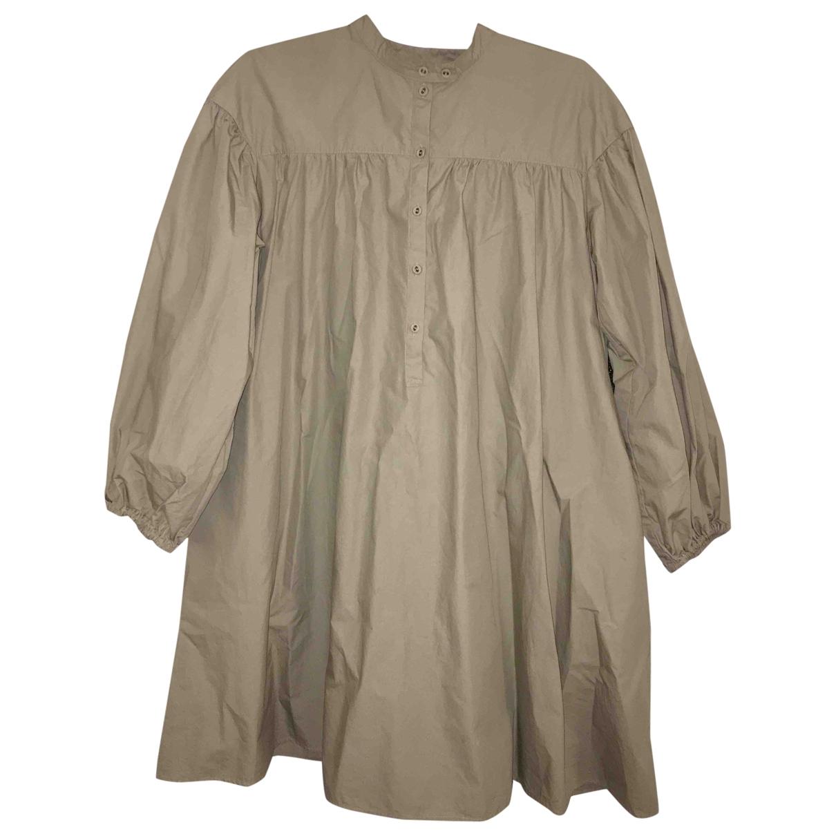 Uniqlo - Robe   pour femme en coton - beige