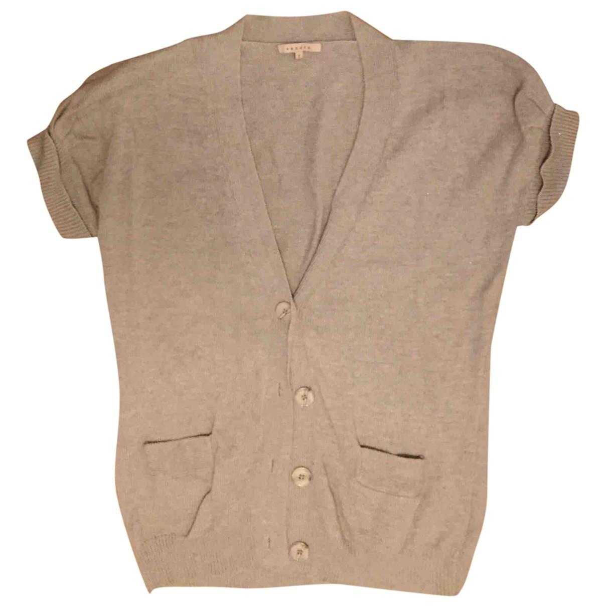 Sandro - Pull   pour femme en laine - beige
