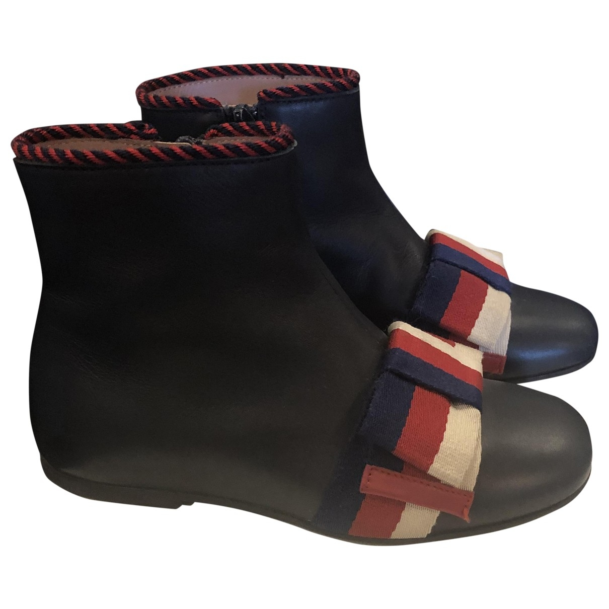 Gucci \N Navy Leather Boots for Kids 28 EU