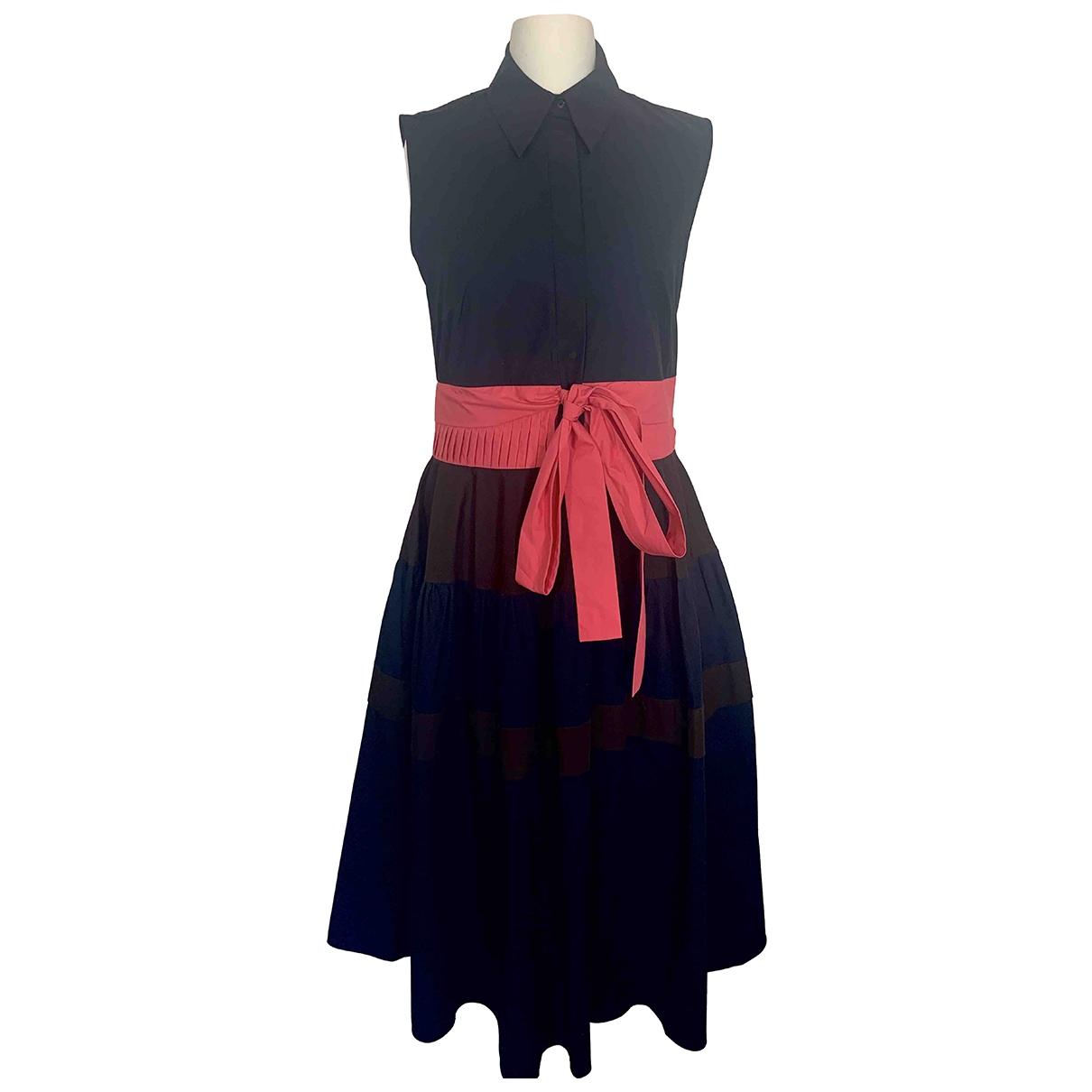 Delpozo \N Kleid in  Marine Baumwolle