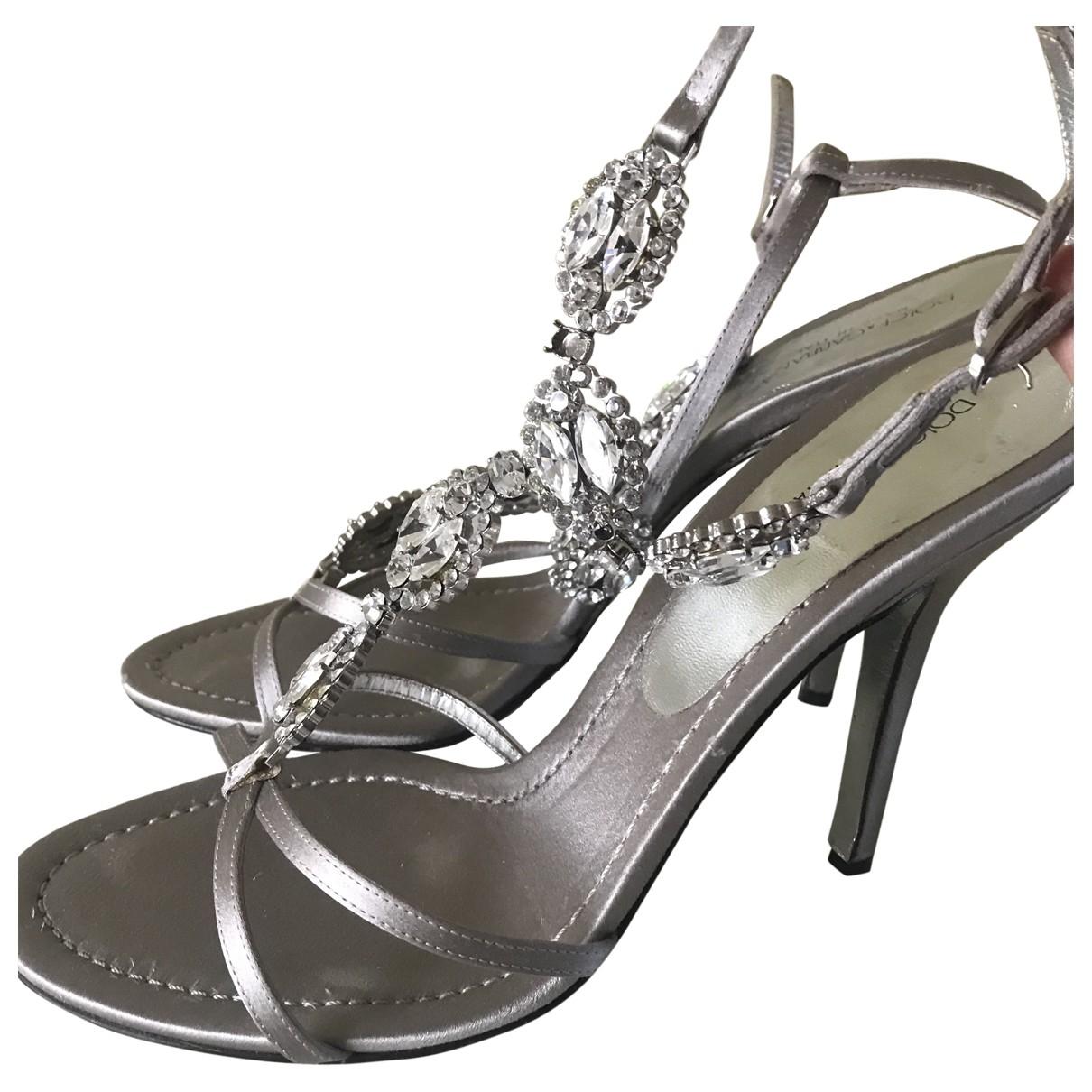 Dolce & Gabbana \N Sandalen in  Silber Leder
