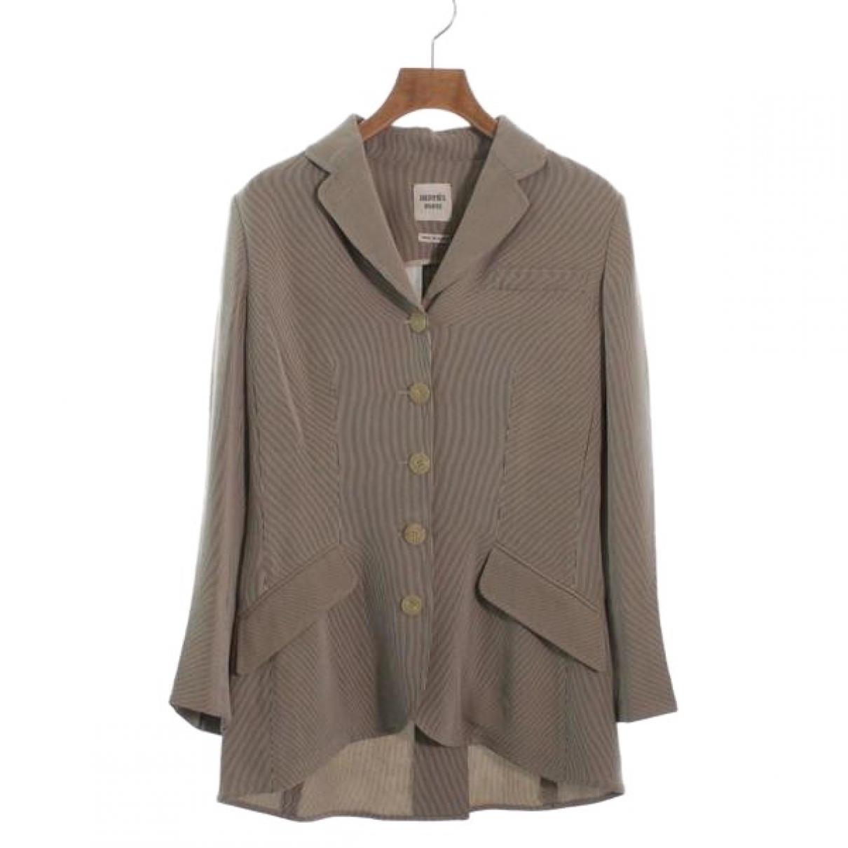 Hermès \N Brown Silk jacket for Women 36 FR