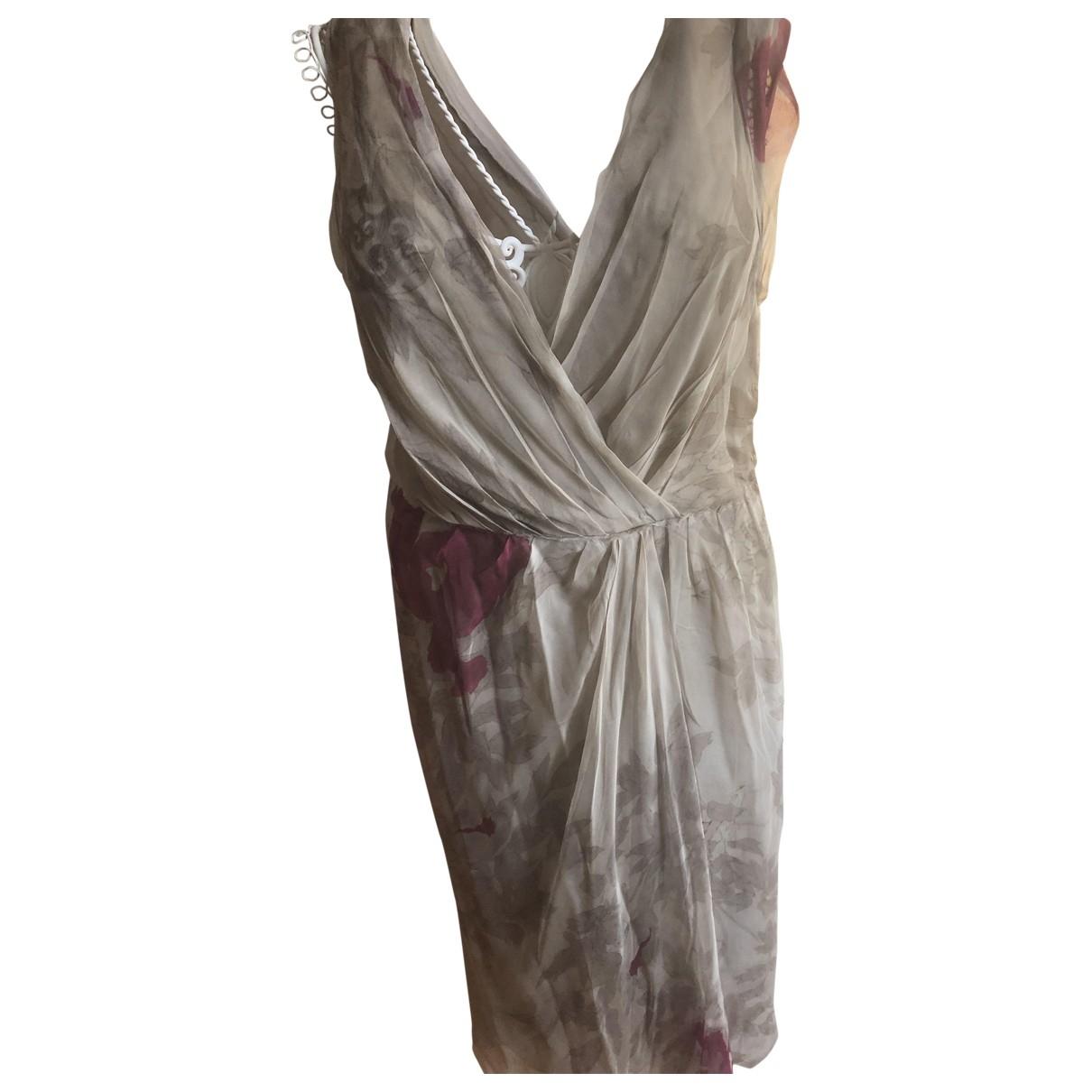 Alberta Ferretti \N Grey Silk dress for Women 44 IT