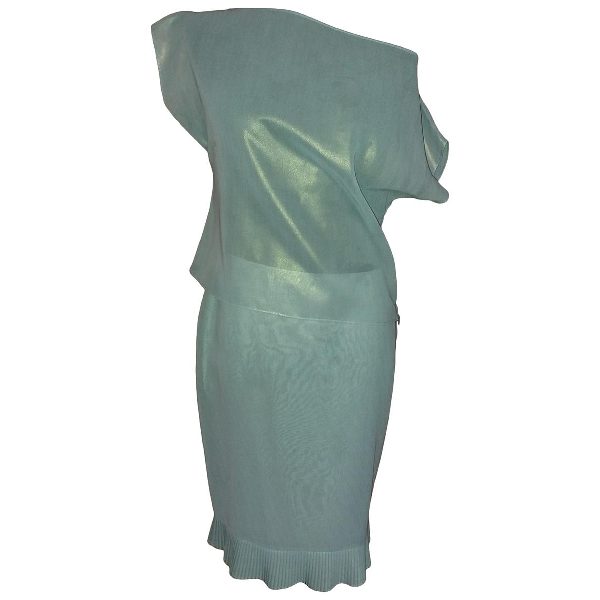 Rifat Ozbek \N Kleid in  Blau Mit Pailletten