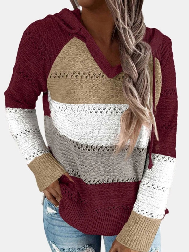 Ericdress Hollow Raglan Sleeve Loose Winter Sweater