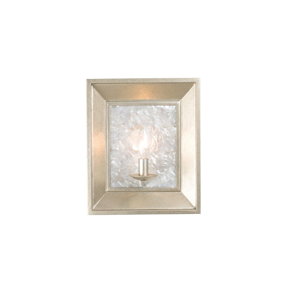 Kalco 505720WS One Light Wall Sconce Hayworth Warm Silver - One Size (One Size - Clear)