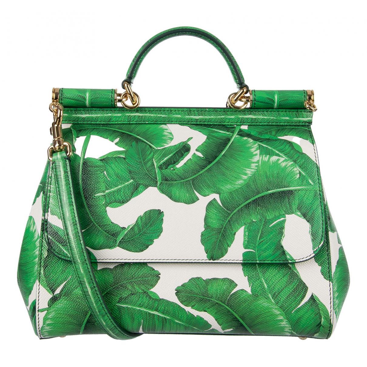 Dolce & Gabbana Sicily Green Leather handbag for Women \N