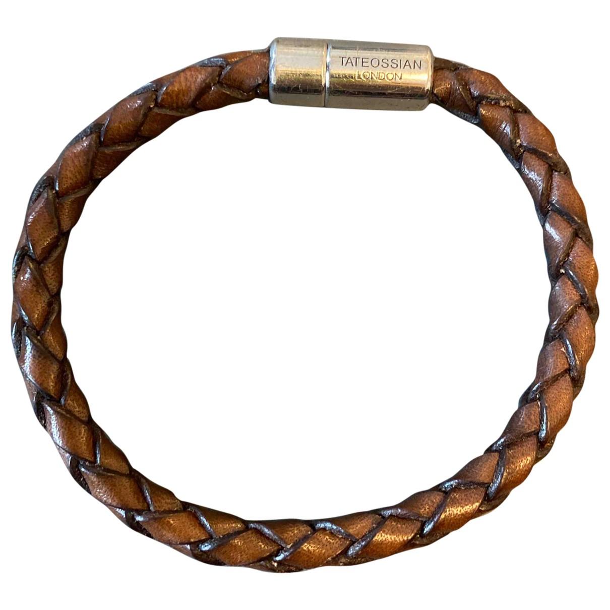 Tateossian N Brown Leather bracelet for Women N