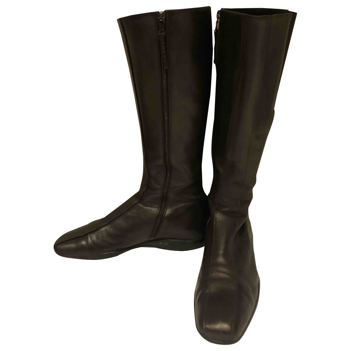 Prada \N Brown Leather Boots for Women 40 EU