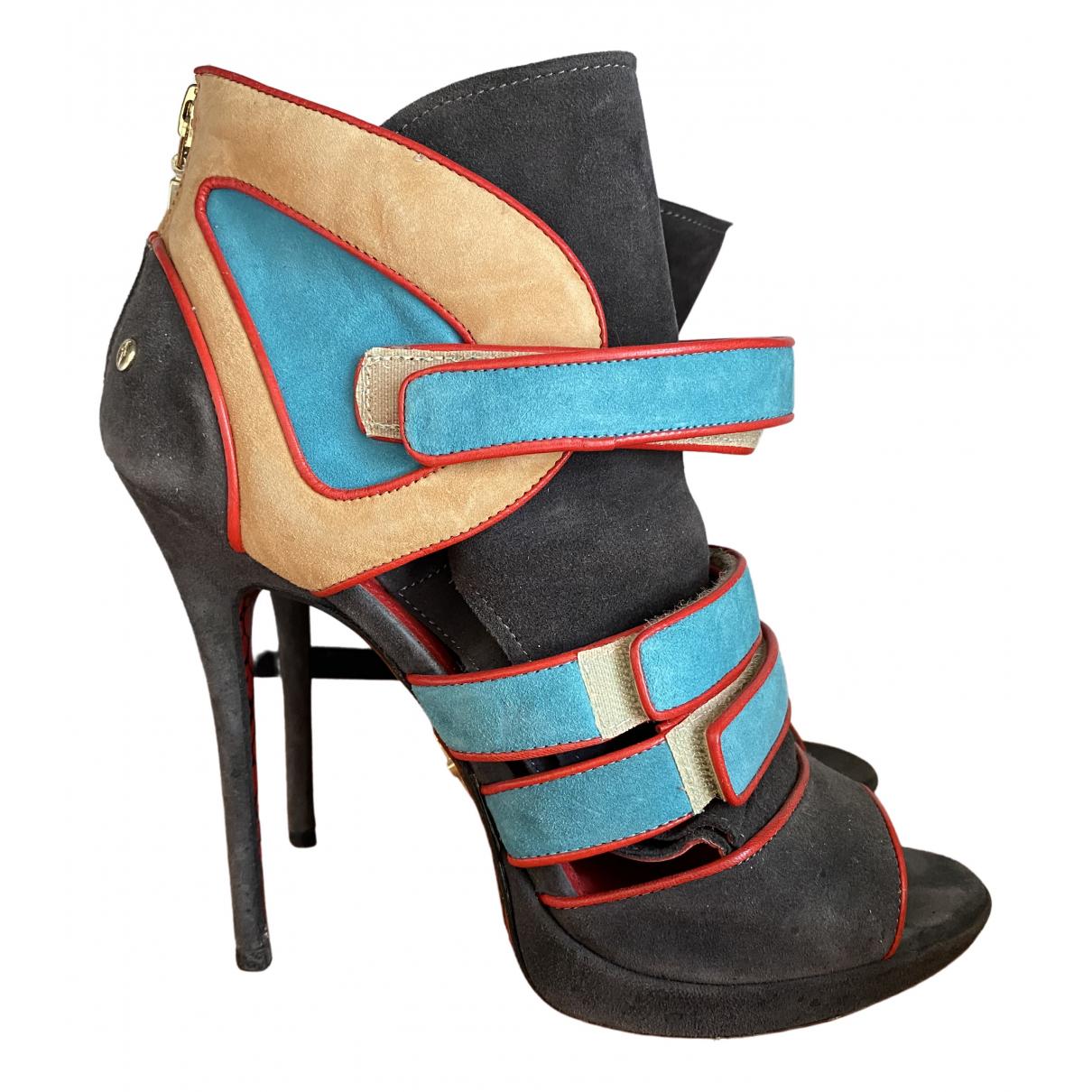 Cesare Paciotti \N Multicolour Suede Heels for Women 40 EU