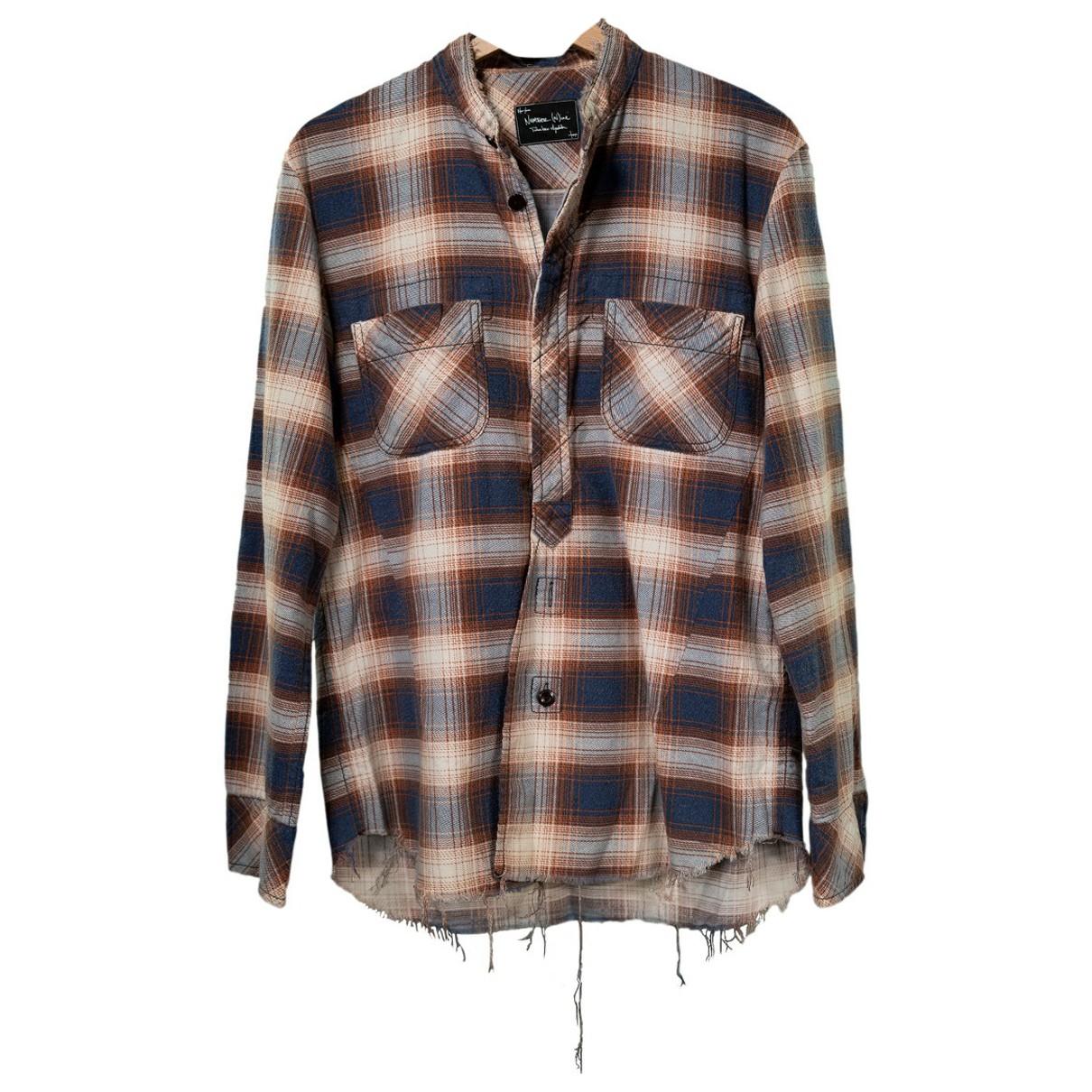 Number Nine - Takahiro Miyashita N Brown Cotton Shirts for Men M International