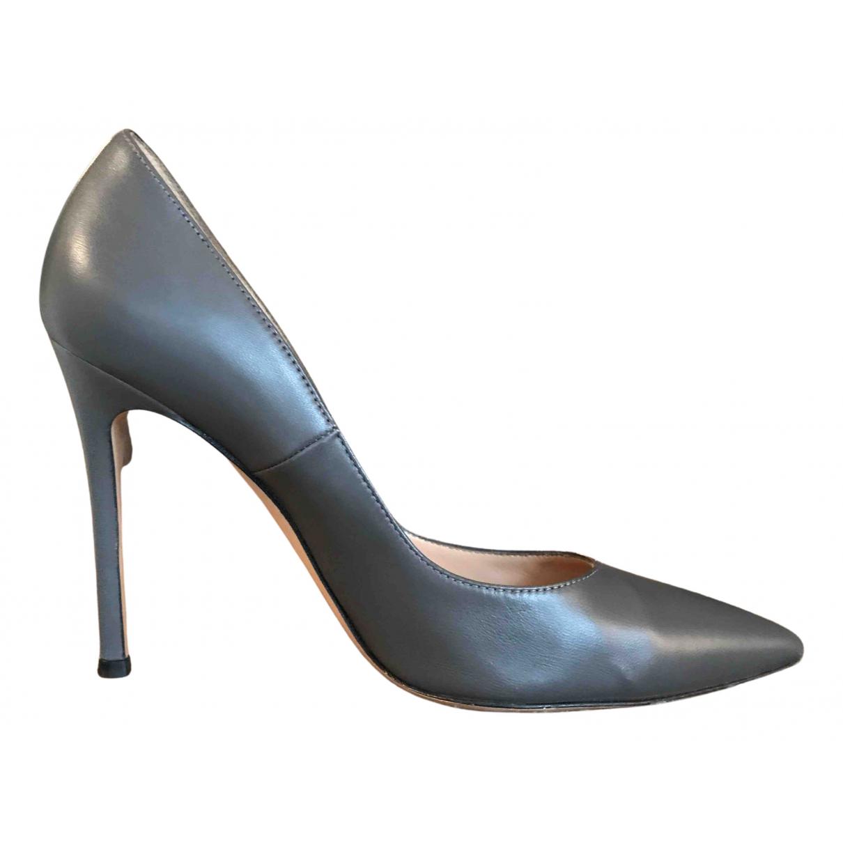 Gianvito Rossi - Escarpins   pour femme en cuir - gris