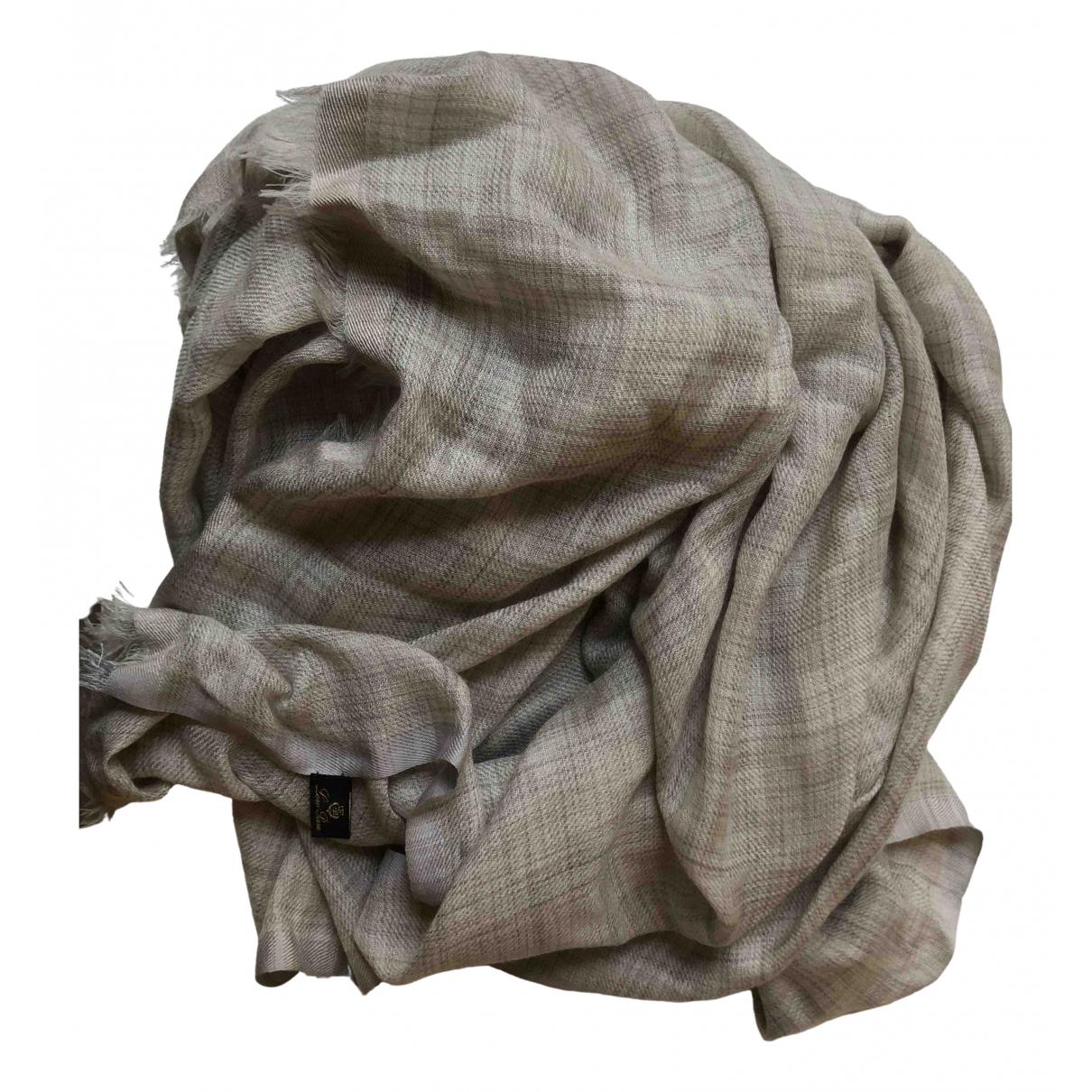 Loro Piana N Grey Cashmere scarf for Women N