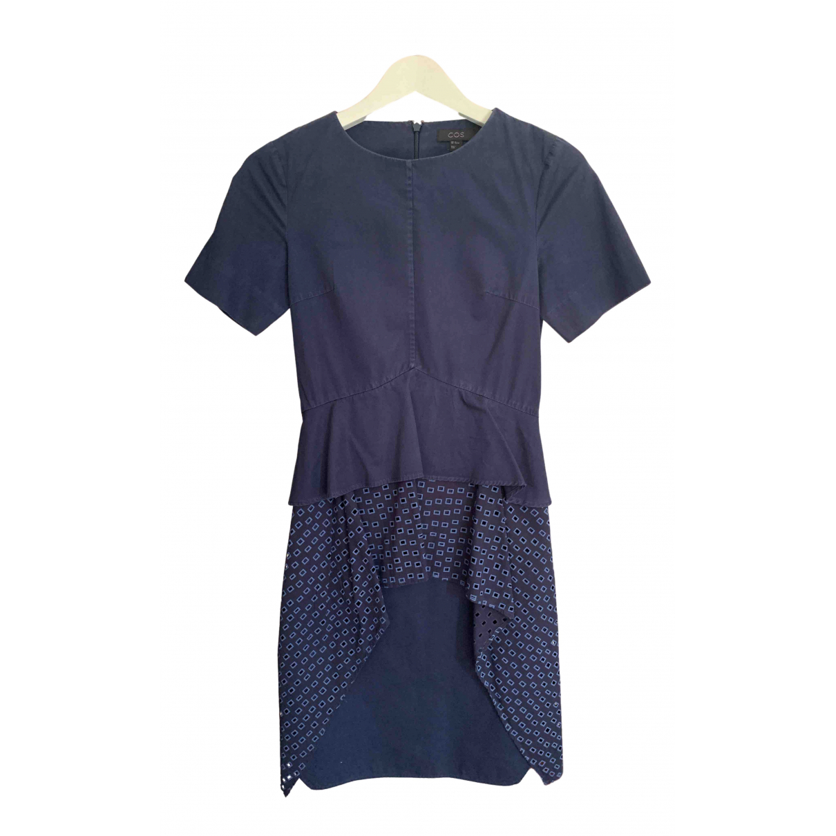 Cos \N Navy Cotton dress for Women 32 FR
