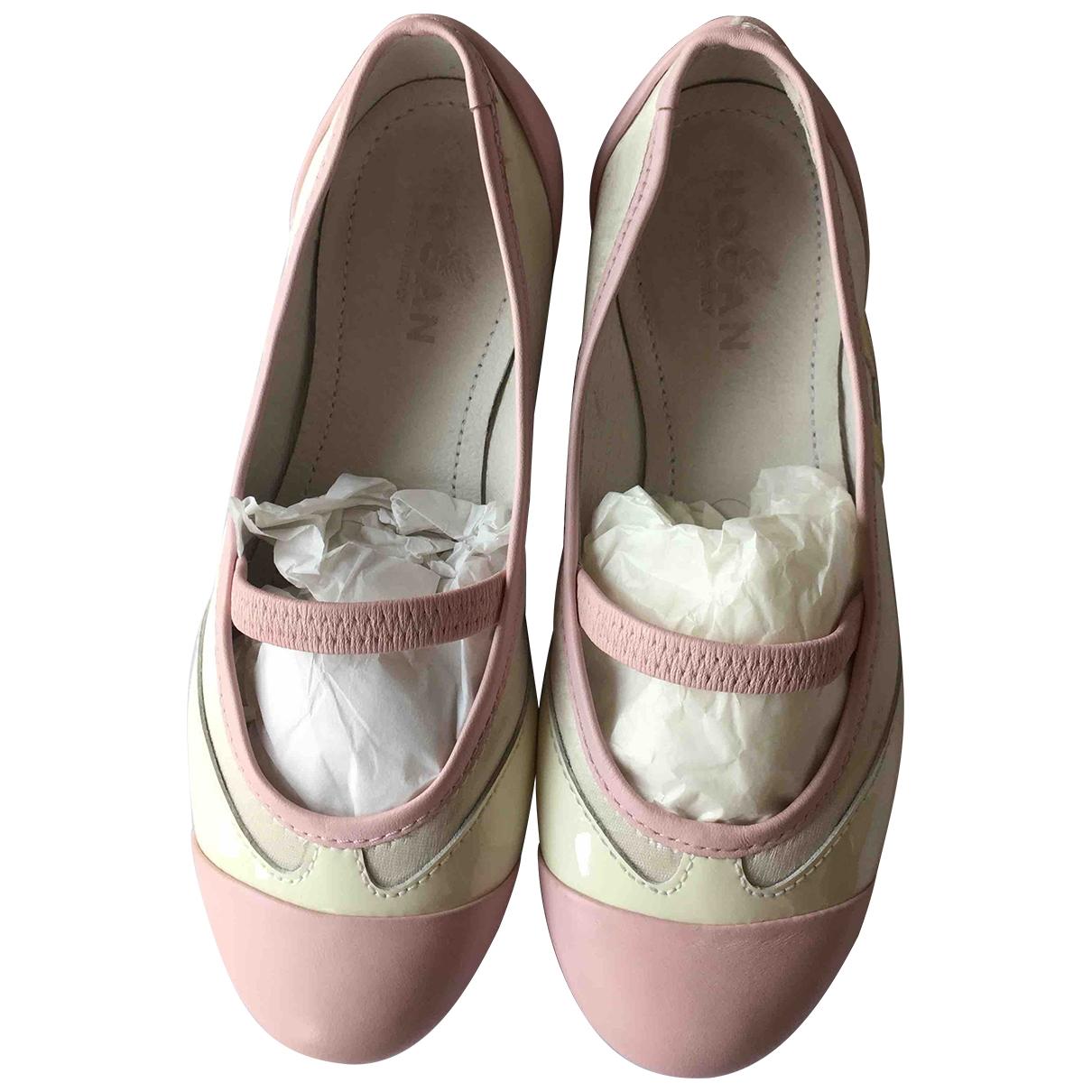 Hogan \N Pink Leather Ballet flats for Kids 31 EU
