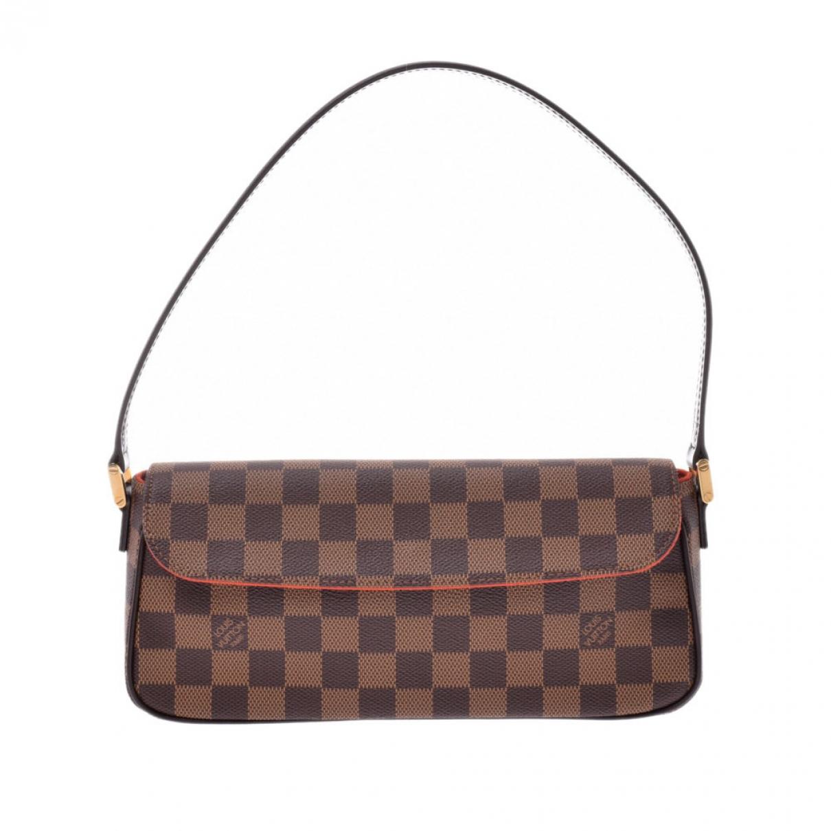 Louis Vuitton Recoleta Handtasche in  Braun Leinen