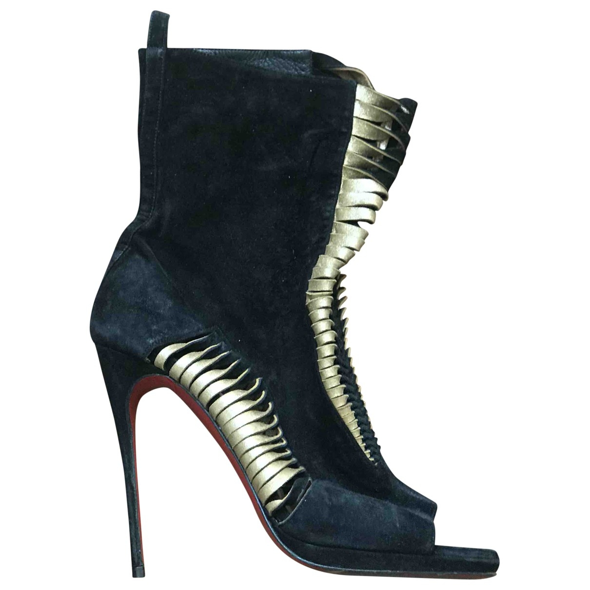 Christian Louboutin \N Black Pony-style calfskin Ankle boots for Women 39 EU