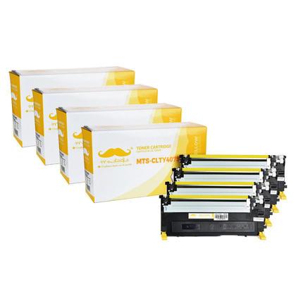 Compatible Samsung CLT-Y407S cartouche de toner jaune - Moustache - 4/paquet