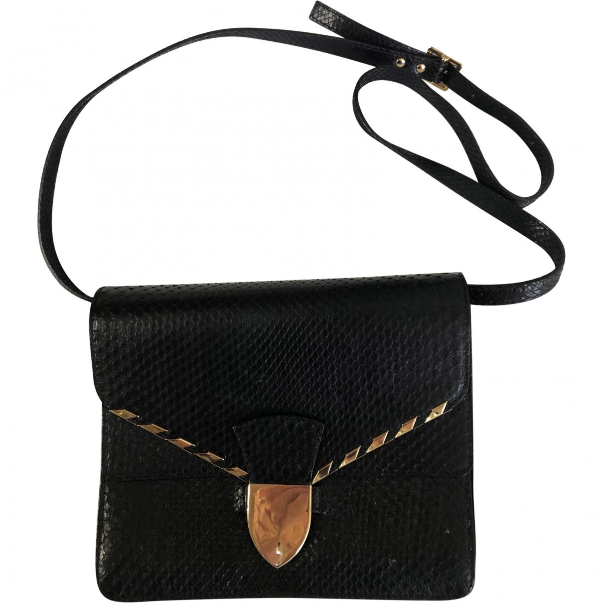 Sophie Hulme \N Handtasche in  Schwarz Leder