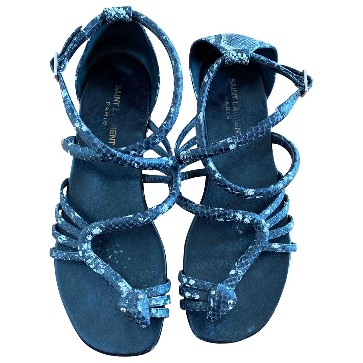 Saint Laurent \N Black Water snake Sandals for Women 39 EU