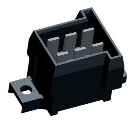 TE Connectivity Automotive Connector Plug 2 Row 6 Way, Solder Termination, Black