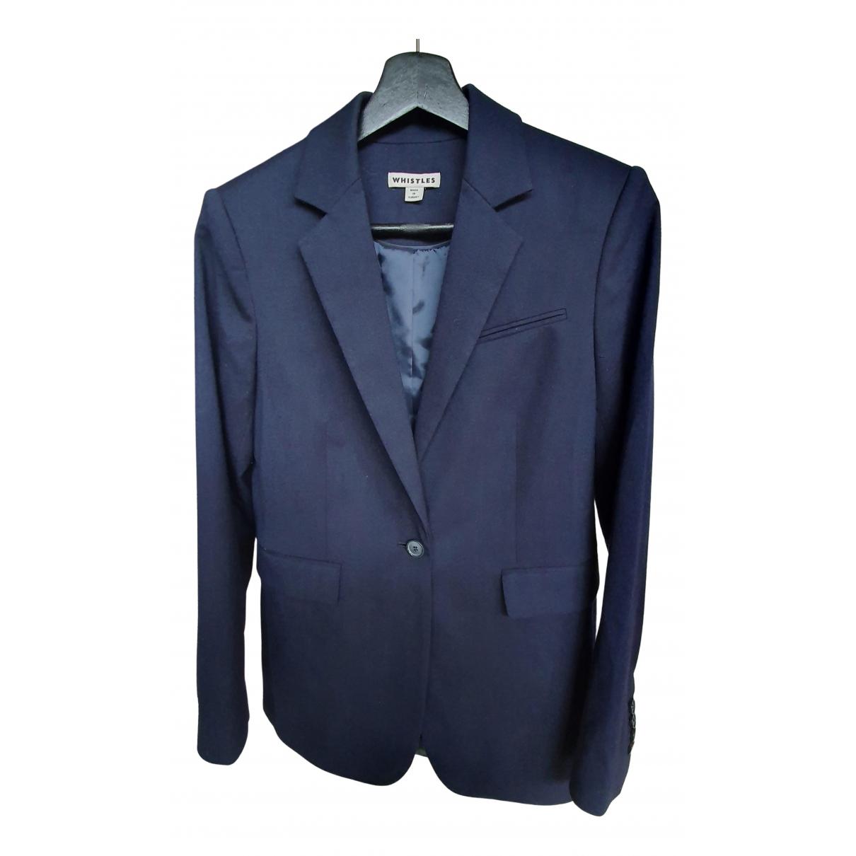 Whistles \N Jacke in  Blau Wolle