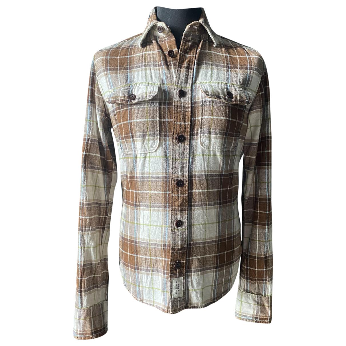 Abercrombie & Fitch - Chemises   pour homme en coton - beige