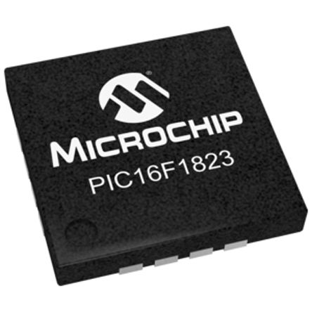 Microchip PIC16F1823-I/ML, 8bit PIC Microcontroller, PIC16F, 32MHz, 256 B, 2K x 14 words Flash, 16-Pin QFN
