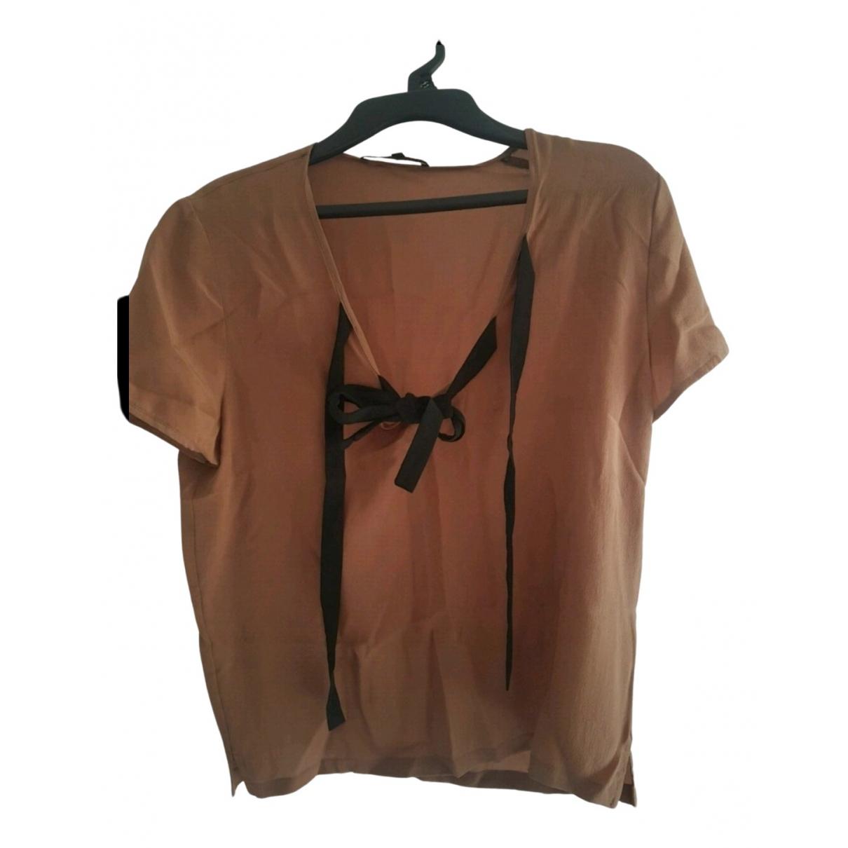 Maje - Top   pour femme en soie - marron